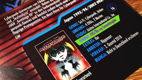 Hier steht es noch, eine Blu Ray Ausgabe. Der Manga ist übrigens in der AnimaniA abgedruckt worden und erschien so auch in Deutschland. Allerdings nie als gebundene Ausgabe.